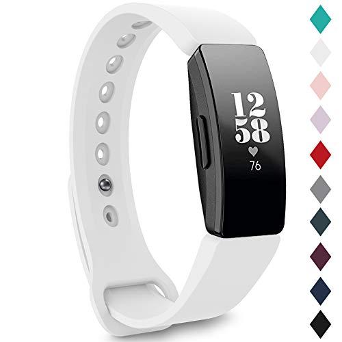 Onedream Correas Compatible para Fitbit Inspire Correa/Inspire Correas/Ace 2 Pulseras Blanco Mujer Hombre Band (sin Reloj), S