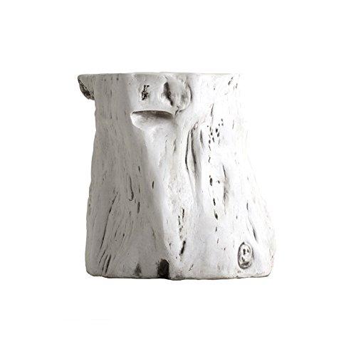 LastDeco Towin Taburete, Fibra de Vidrio, Blanco, 53.5x43.5x58 cm