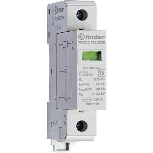 Finder 7P2182751020 Überspannungsschutzgerät, Typ2, abnehmbare Varistoren, Defektanzeige, Statusrückmeldung