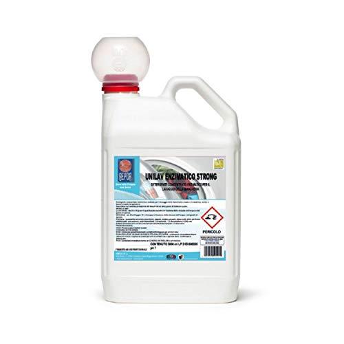 UNILAV ENZIMATICO STRONG – Detergente detergente para lavadora y a mano profesional enzimático – Bidón de 5 litros