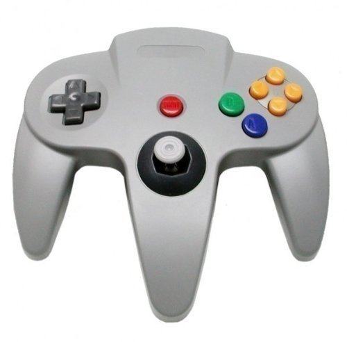 OSTENT Wired Controller Gamepad Joystick Joypad for Nintendo 64 N64 Console Video Games Color Grey