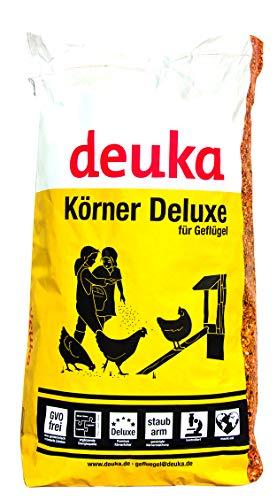 deuka Premium Körnerfutter de Luxe 15 kg mit Oregano Hühnerfutter Geflügelfutter Wachtelfutter