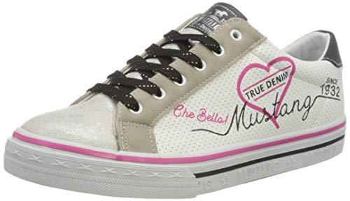 MUSTANG Jungen Mädchen 5056-305 Sneaker, Mehrfarbig (Silber/Weiß 124), 33 EU
