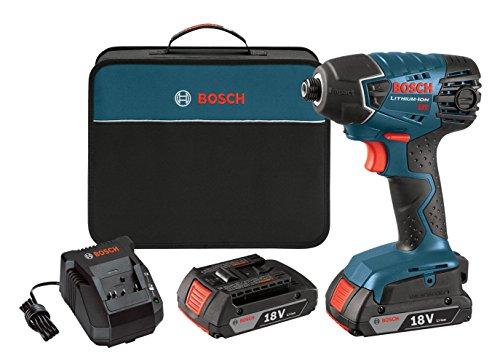 Bosch 25618-02 18-Volt Lithium-Ion 1/4-Hex Impact Driver Kit...