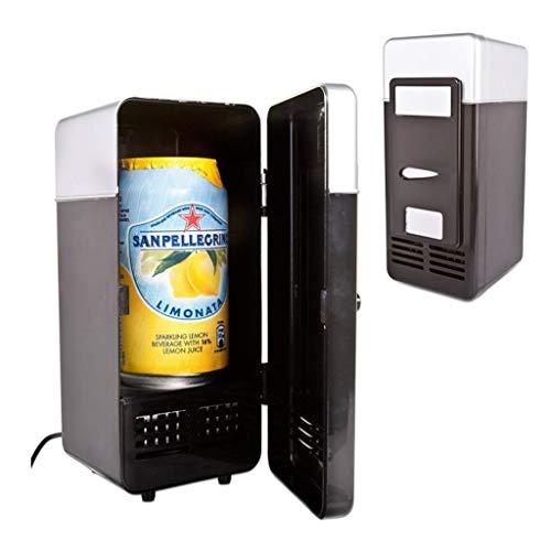 IF.HLMF Mini Refrigerador USB Refrigerador Calefacción Pequeño Refrigerador Kit Cosméticos Refrigerador Gabinete Fresco