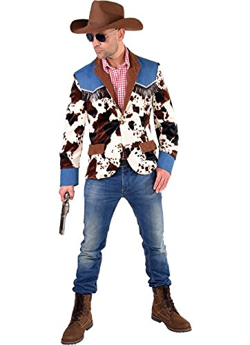 M217222-XXL Herren Cowboy Jacke Jackett Kostüm Gr.XXL