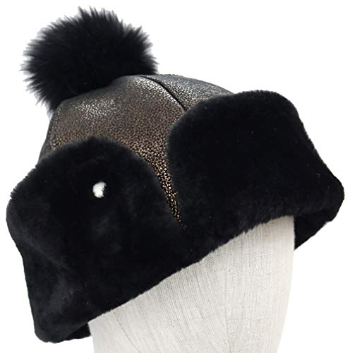 UGG Womens Up Flap Hat in Metallic Black