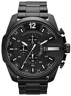 Diesel Mega Chief Chronograph Gunmetal Black Stainless Steel Watch DZ4283Diesel Men's Mega Chief Chronograph Gunmetal Blac...