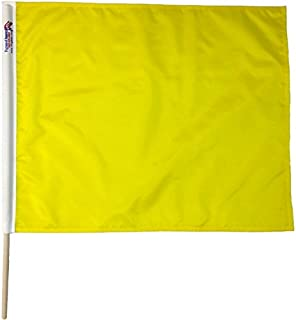 Yellow Caution Professional Racing Flags 24 x 30