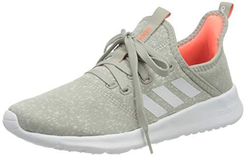 adidas Cloudfoam Pure, Zapatillas para Correr para Mujer, Metal Grey/Chalk White/Signal Coral, 40 EU