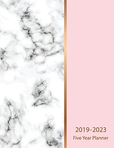 2019-2023 Five Year Planner: Marble Texture Design 60 Months Calendar Schedule Organizer Agenda Yearly Goals Monthly Task Checklist Logbook ... (Five Year Calendar Planner) (Volume 3)