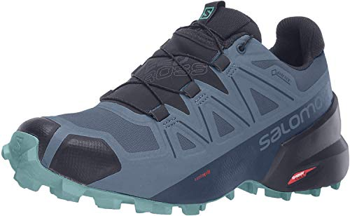 Salomon Women's Speedcross 5 GTX W Trail Running, Copen Blue/Navy Blazer/Meadowbrook, 7