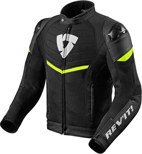 REV'IT! Motorradjacke mit Protektoren Motorrad Jacke Mantis Textiljacke schwarz/neon-gelb XL, Herren, Sportler, Ganzjährig, Polyester