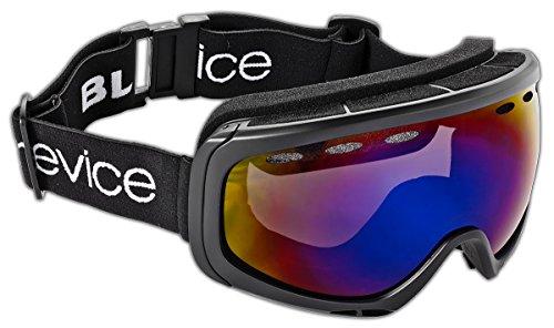 Black Crevice Erwachsenen Skibrille für Brillenträger mit Doppelscheibe, Rahmenfarbe schwarz, BCR041002, Smoke Blue