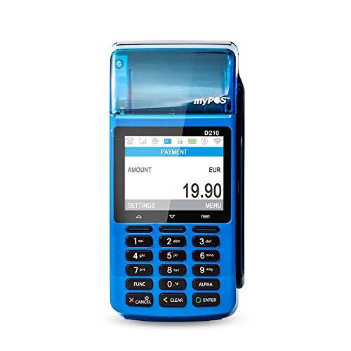 MyPOS Combo (Blue) Portable POS Terminal avec imprimante pour tous les types de cartes Livré avec un kit de paiement en ligne complet + carte de débit gratuite et IBAN UE