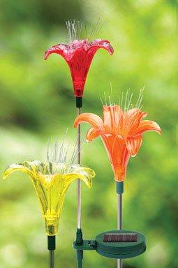 Exhart Environmental Systems Solar Lily Garden Decor