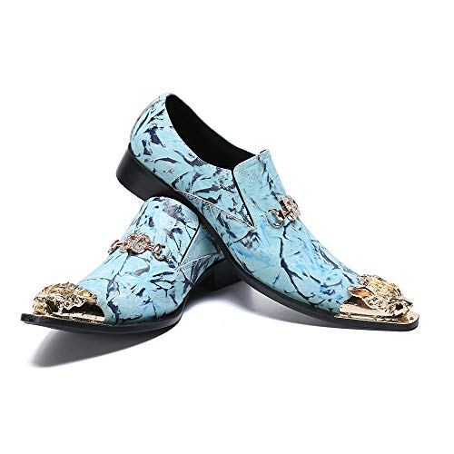 JFSKD Zapatos Formales de Hombre,Vestido Informal de Negocios de Moda Juvenil británica...