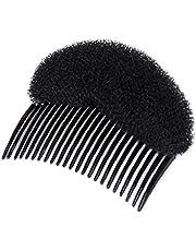 1 st charmig stötar It Up volym sätter hårsvampinsats kam gör-det-själv hår styling användning verktyg donut rulltillverkare hårtillbehör (svart)