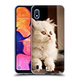 Head Case Designs Chaton Persan Blanc Adorable Races de Chat Populaires Coque en Gel Doux Compatible avec Samsung Galaxy A10 (2019)