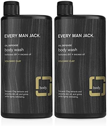 Every Man Jack Men s Body Wash Volcanic Clay 16 9 ounce Twin Pack 2 Bottles Included Naturally product image