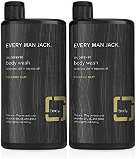 Every Man Jack Body Wash, Volcanic Clay, 16.9-Ounce - Twin Pack