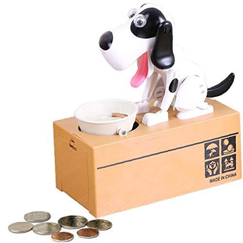 TOPofly NICEYARD Regalo Niños Huchas Perro Robot de Dibujos Animados electrónico roba la Moneda del Banco automatizados Cajas de Dinero para Ahorrar Dinero Box