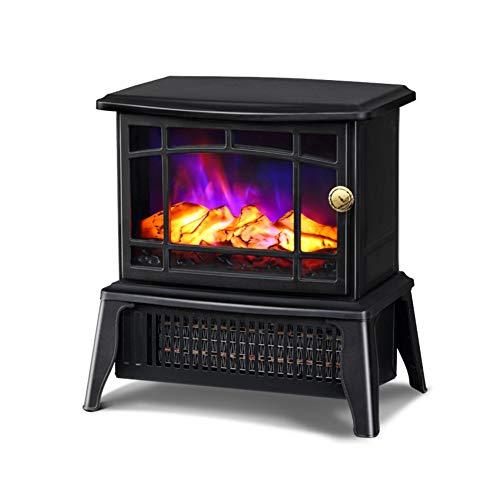 Kleine elektrische open haard - Draagbare binnenruimte ruimteverwarming onafhankelijke oven met 3D realistische vlam effect oververhitting bescherming - 750 W / 1500 W haard