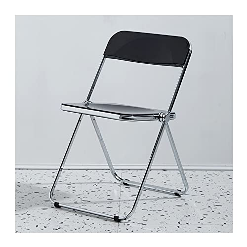 YAZHUANG8 Silla Plegable Asiento de plástico y plástico Plegable/sillas de Acero - Sillas Plegables de plástico (Color : D)