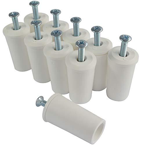 Rolladenstopper Anschlagstopper Rolladen Stopper Farbe Weiß 5ér SET (10 Stück)