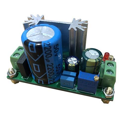 Módulo regulador de Voltaje LM317, AC 5V-24V Tablero de Fuente de alimentación regulado Ajustable Regulador AC-DC Lineal Ajustable