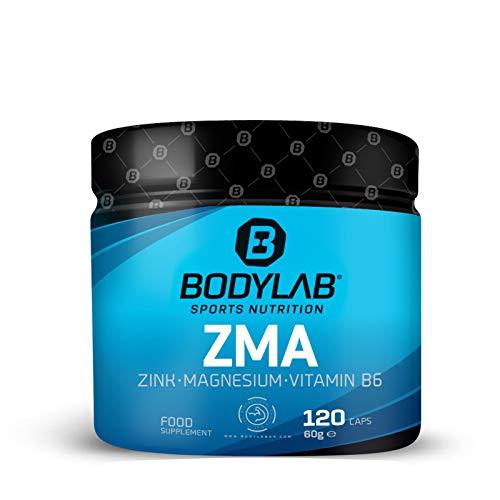 Bodylab24 ZMA 120 Kapseln   Zink, Magnesium, Vitamin B6 + B5, Vitamin D3   Hochdosierter Komplex   unterstützt Muskelfunktion und Immunsystem