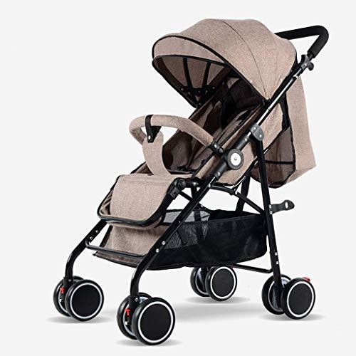 BGTRRYHY Kinderwagen mit hohem Querformat, kann sitzen, zurückgelehnt werden, leicht, faltbar, für den...