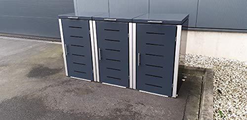 Abfalltonnenverkleidung Metall für drei 240 Liter Tonnen