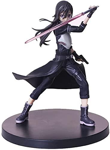 Sword Art Online Sao Kirigaya Kazuto 2da generación Kirito Box Set PVC Material Figura Anime Carácter Juego rol Muebles Oficina Escritorio Decoración Altura 18 cm