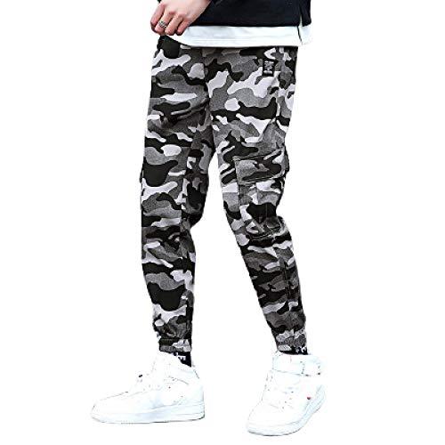 Pantalones Cargo de Camuflaje para Hombre Trend All-Match Outdoor Streetwear Ocio Fitness Ejercicio Beam Feet Pantalones recortados 3XL