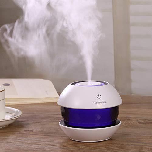 IROSE Mini USB Humidificador UltrasóNico Taladro MáGico Humidificador De Aire Aroma Aromaterapia Difusor De Aceite Esencial para SPA De Oficina