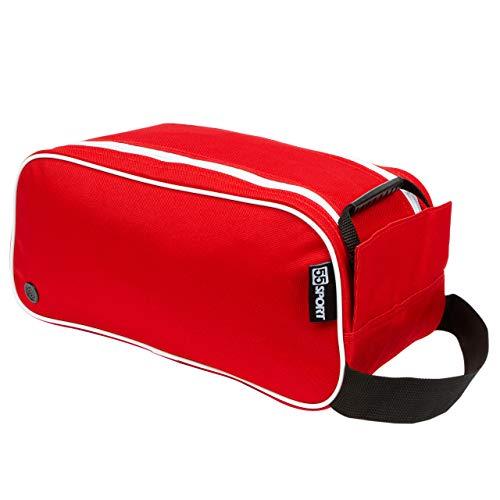 55 Sport Bolsa para botas y zapatos de fútbol, color rojo