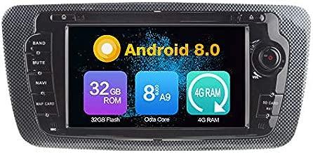 Octa Core 4G Ram Android 8,0 Auto DVD GPS Navegación Multimedia Player Coche Stereo Autoradio para VW Seat Ibiza 2009 - 2013 Radio Volante Control con Wifi Bluetooth TF Card