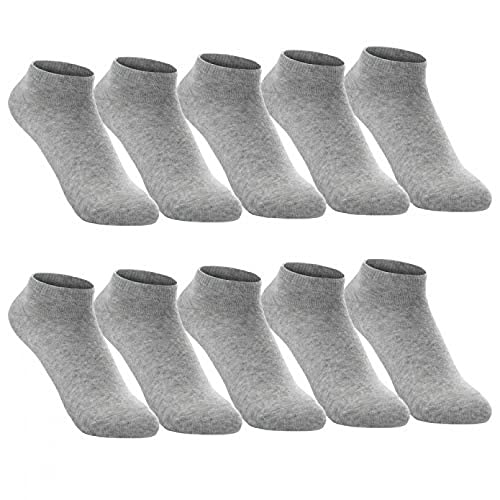 FGFDHJ 10 Pares/Paquete Hombres Mujeres Calcetines algodón Verano Color sólido Transpirable Negocios Deportes Tobillo Corto Calcetines de Vestir