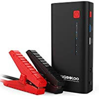 Gooloo Jump Starter 18000mAh Car Battery Booster Portable Power Pack with 12-Volt Intelligent Jumper Cable, Quick Charge & Flashlight