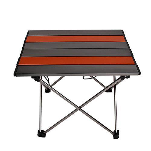 WJQ Aluminium Camping Tisch Outdoor Campingzubehör, robust und langlebig, sicher und stabil tragend Leicht zu tragen Leicht zu reinigen, geeignet für Reisen Beach Barbecue