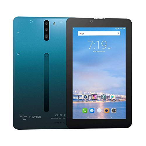 YUNTAB 7 inch 3G Unlocked Android Tablet Smartphone, Support Dual SIM Cards, 1.3GHz Quad Core Processor, 1GB RAM 16G ROM, with WiFi, GPS and Dual Camera(Blue Black)