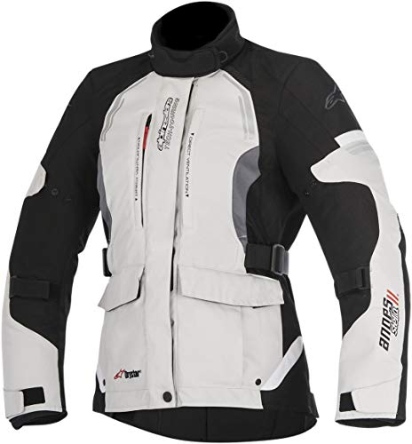 Alpinestars Women's Stella Andes v2 Drystar Motorcycle Jacket, Black, Large
