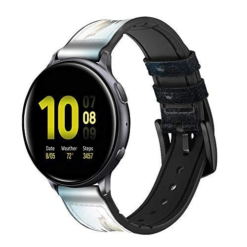 Innovedesire Giant Octopus Smart Watch Armband aus Leder und Silikon für Samsung Galaxy Watch Watch3, Gear S3 Models Gear S3 Frontier Gear S3 Classic Größe (22mm)