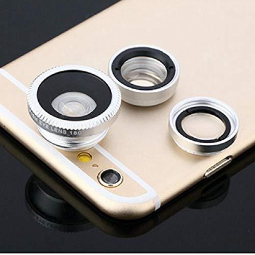 XTBB Lente Fisheye Lente Gran Angular para Teléfono Móvil Fisheye Lente 3In1 para Cámara Web Cámara con Clip para iPhone Huawei Sp067-5