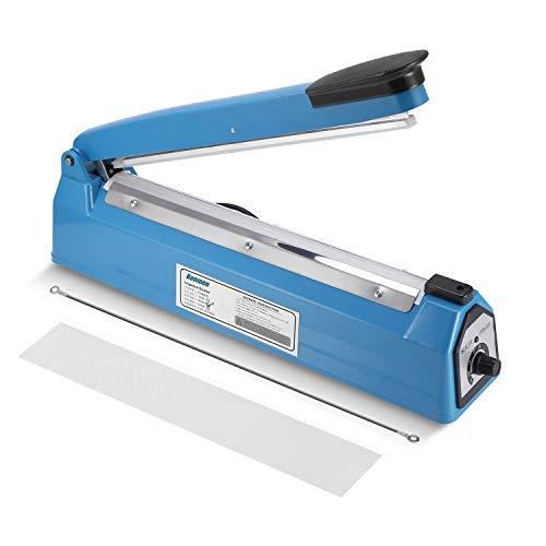 Konmee 12 Inches Impulse Manual Hand Bag Sealer Heat Sealing Machine with One Repair Kit