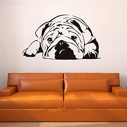 yaonuli Englisch Bulldog Wand Vinyl Aufkleber Umwelt Aufkleber Wandaufkleber Dekoration 30x20 cm