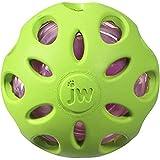 JW JW47014 Juguete Crackle Ball Medium, Pelota De Goma con Un Corazón De Plástico Embotellado para Perros, M
