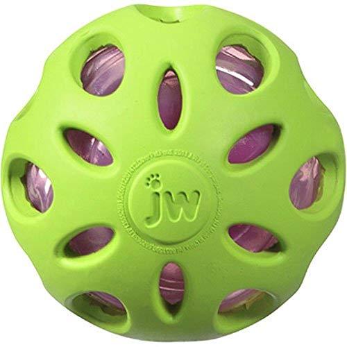 Pelota de juguete Crackle Heads de JW Pet Company para perros, grandes, en todos los colores, M, Variados