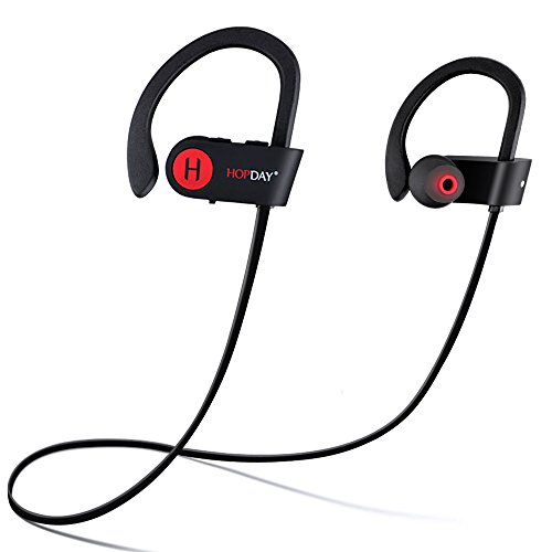 Bluetooth Headphones, Wireless Headphones, HOPDAY U8 in-Ear Bluetooth Earbuds, Built-in Mic, Stereo Sound, Noise Cancelling IP68 Waterproof Sweatproof Wireless Earbuds for Running Exercising